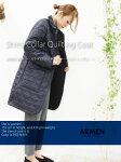 ARMEN【アーメン】裏フリースナイロンシャツカラーキルティングコートNAM1483