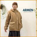 """【送料無料】ARMEN【アーメン】ボアフリースフード付きジャケット (boa fleece hooded jacket)""""NAM2432"""""""