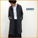 【送料無料】ARMEN【アーメン】コットンキルティングフード付きコート (cotton quilt hooded coat) NAM0553 レディース 綿キルト