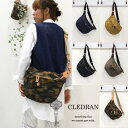 CLEDRAN【クレドラン】ナイロンキルティングボディバッグ...