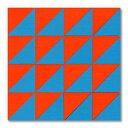 童具館 ケルンモザイク45四角C(1/2直角二等辺三角形 青・橙)