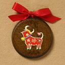 BOSSE 壁飾り 赤い牛