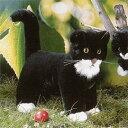 ケーセン社 猫 立ち 黒