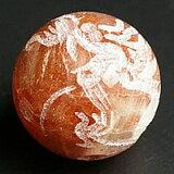 圣畅销的12毫米大小的珠龙石雕[12mmサンストーン龍彫刻ビーズ粒売り]