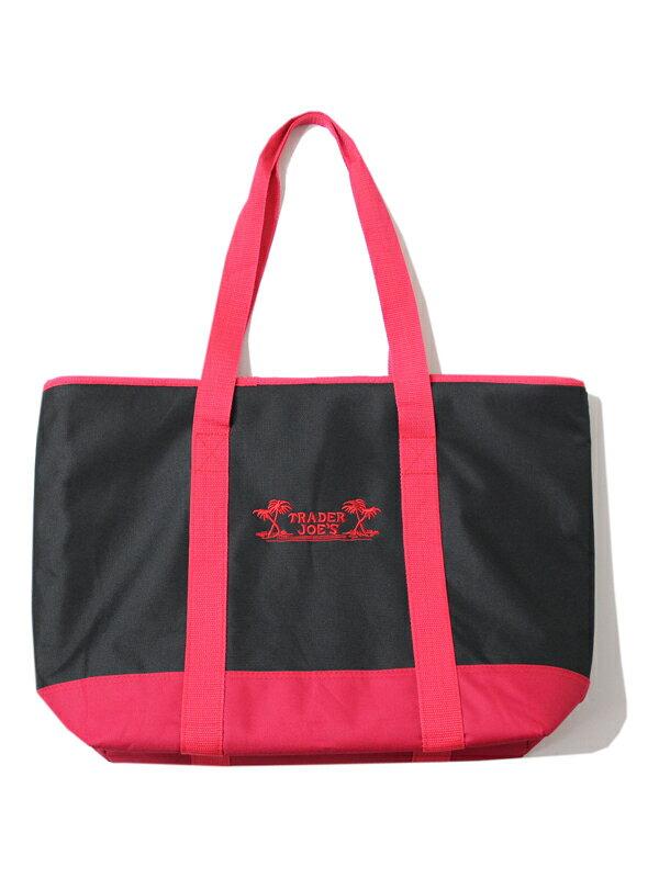 【US買い付け品/あす楽】保冷バッグ TRADER JOE'S Reusable Insulated Bag black/red ブラック/レッド トレジョ TRADER JOES