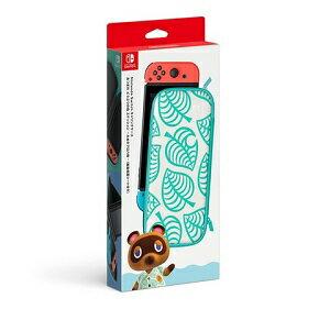 【送料無料・即日出荷】Nintendo Switch キャリングケース あつまれ どうぶつの森エディション たぬきアロハ柄 (画面保護シート付き) 500059【ラッピング 対応不可】