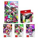 ★Splatoon 2 (スプラトゥーン2) Nintendo Switch Proコントローラー スプラトゥーン2エディション amiibo3種(ガール【ネオンピンク】 ボーイ【ネオングリーン】 イカ【ネオンパープル】) 代引き可 キャンセル不可