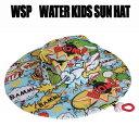 WSP 子ども用 サンハット レッド ラッシュ素材のサーフハット