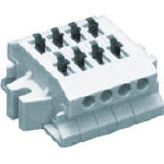 ●ワンタッチで安定した結線接続ができます。●はんだ付けなしで被覆をむいていただくだけでダイレクトに結線できます(むき線長10mm)。 サトーパーツ スクリューレス端子台 ML-1700-A-4P