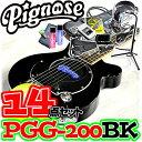 アンプ内蔵コンパクトなエレキギター超オトクな14点セット!/Pignose PGG-200 BK=BLACK(ブラック)+小物13点/PGG200【送料無料】【smt..