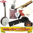 6弦バンジョーギター超オトクな9点セット!/ARIA(アリア)SB-10G+小物8点/SB10G/ブルーグラス【送料無料】【smtb-KD】【RCP】:-p5