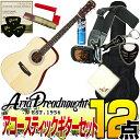 Aria Dreadnought AD-211 -Dreadnought- NAT(ナチュラル)【オリジナル12点セット】(アリアドレッドノート)/AD211/アコースティックギタ..