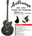 Aria Dreadnought AB-295 BK(ブラック) −エレクトリック アコースティックベース− (アリアドレッドノート)/AB295/Electric Acoustic Ba..