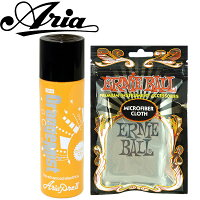 ARIA(アリア)(クロス:アーニーボール・ギタークロス#4220をセット)「OM-8×1本-OrangeMist-CareSpray:オレンジミスト(ギタークリーナー)」【送料無料】【smtb-KD】【RCP】:-soku