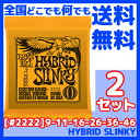 ERNIE BALL(アーニーボール) #2222×2セット HYBRID SLINKY[9-46]/ 定番エレキギター