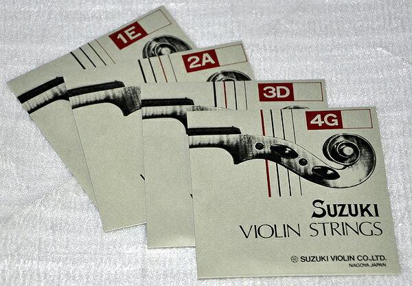 鈴木バイオリン「4/4、3/4サイズ用バイオリン弦セット」×1セット【送料無料】【smtb-KD】【RCP】:78322-78325...44-43-1set