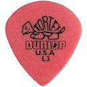 JIM DUNLOP(ジムダンロップ)「Tortex Jazz L3(SHARP:0.5mm)×12枚セット」トーテックス/ジャズ/ギターピック/472RL3(RED)【送料無料】【..