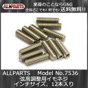 ALLPARTS GS-0002-005 Pack of 12 Steel #4-40 Bridge Height Screws☆ALLPARTS 7536☆弦高調整用イモネジ 12本セット【送料無料】【smtb-KD】【RCP】