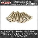 ALLPARTS GS-3397-001 Pack of 8 Nickel Short Humbucking Ring Screws☆ALLPARTS 7559☆エスカッション止めビス 8本セット【送料無料】【smtb-KD】【RCP】:-p2