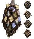 ショッピングポンチョ ウールパッチワークエスニックポンチョ エスニック衣料 エスニックアジアンファッション