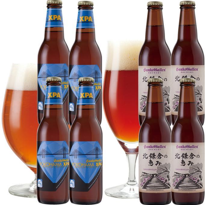 【神奈川地ビールギフト】横浜と北鎌倉の天然水仕込みクラフトビール飲み比べセット(2種×各4本、8本詰め合わせ)【あす楽:14時〆切】【本州送料無料】結婚内祝い、出産内祝など各種のし対応