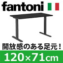 Garage パソコンデスク fantoni 頑丈なT字脚 幅120cm 奥行き71cm GT-127H 黒 ブラック