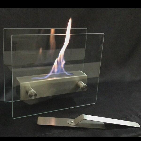 ガレージ・ゼロ バイオエタノール暖炉 ガラススタンドタイプ(屋内・屋外両用)/卓上暖炉/ファイアープレイス/卓上エタノール暖炉
