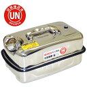 【送料無料】ガレージ・ゼロ ガソリン携行缶 ステンレス(SUS304) 10L 横型 [消防法適合品