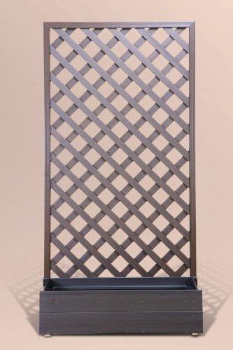 <樹脂 プランター ラティス 置くだけ>プランタボックス付きウッディープラフェンス幅90c…...:garden-life:10000255