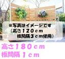 【ボックス付きコーナーフェンス9点セット高さ180cm板間隔1cm】