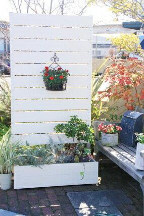 目隠しフェンス 樹脂フェンス【プランターボックス付きコンフォートフェンス/高さ180cm幅…...:garden-life:10000295