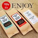 【送料無料】3つの味が楽しめるコーヒー豆お試しセットENJOY(100g×3袋)/コーヒー豆/珈琲/心斎橋焙煎所/ブレンド/デカフェ/カフェインレス