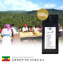 【100g】エチオピア グジ シャキソ G-1 ナチュラル(スペシャルティ/シングル/コーヒー豆)