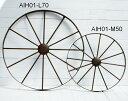 アイアン製ガーデンデコホイール 車輪M型【AIH01-M50】