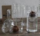 GLASS BULB BASE LONG 球根用フラワーベース ロング【KEGY4070】ガラス花瓶 水耕栽培