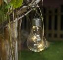 コンセントも電池もいらない!電球型LEDソーラーライト【H9558】ガーデニングのイルミネーション♪