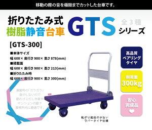 【送料無料】折りたたみ樹脂静音台車GTS-300積載荷重300kg大型【組立不要・完成品】