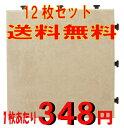 【円高還元YDKG-kd】【送料無料】ジョイント式 タイルデッキパネル アンティークホワイト 12枚...
