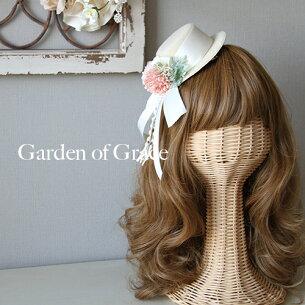 ウエディングヘッドドレス・ミニハット ーティー ガーデンシリーズソレイユミニハ