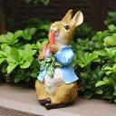 ピーターラビット にんじん大好き 絵本 雑貨 置物 うさぎ グッズ 映画 人気 ラビット ウサギ キャラクター オブジェ オーナメント 童話 物語 お子様 なつかしい