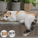 本物そっくり 日本のかわいい猫 だらーん ネコ 置物 オブジェ キャット リアル 雑貨