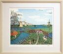 山下 清『オランダの牧場』リトグラフ版画