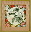 葛飾北斎(画狂老人卍)『唐獅子図』高級複製画彩美版額装