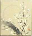 中谷文魚『寒月』色紙絵
