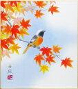 林 亜綜『紅葉』色紙絵