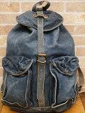 (ダブルアールエル) RRL 本藍染め インディゴ レザー リュックサック バッグ Indigo Leather Rucksack 【あす楽】