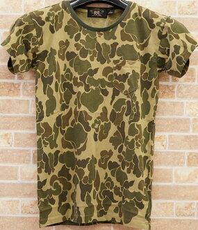 阿邁爾 (格拉夫) RRL 迷彩列印棉 T 恤 XS S L XL 迷彩列印棉 t 恤衫