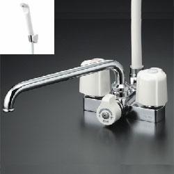 *KVK*KF12E/KF12ZE 水栓金具 デッキ形2ハンドルシャワー