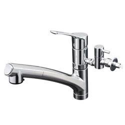 【3年保証付】*KVK*KM5021ZTTU 水栓金具 流し台用シングルレバー式シャワー付混合栓 寒冷地仕様