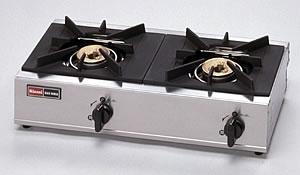 リンナイ業務用ガステーブルRSB-206SV2口ガスコンロ立消え安全装置付